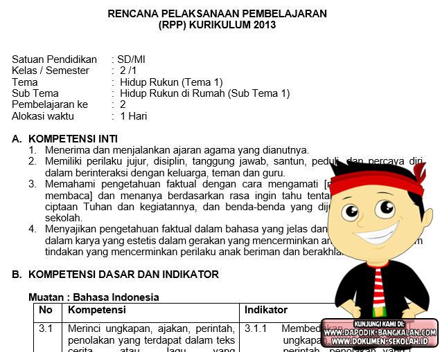 Download Rpp Kelas 2 Kurikulum 2013 Revisi 2017 Portal Info Guru Dan Pendidikan Indonesia