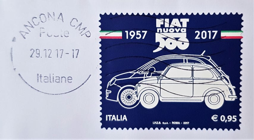 francobollo Fiat nuova 500