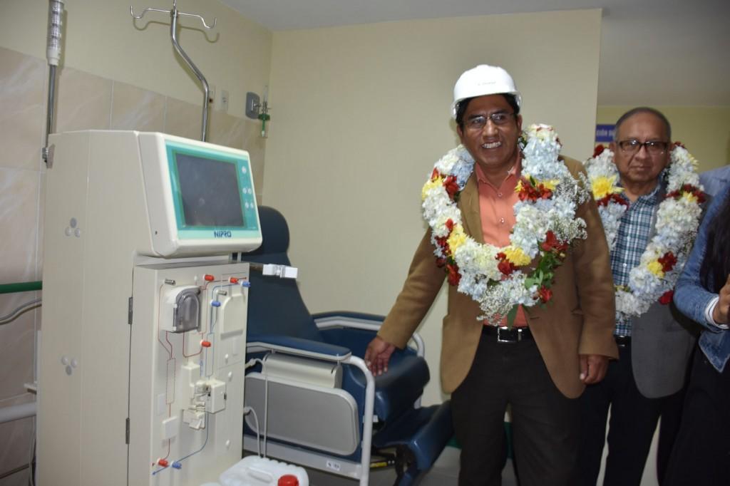 Se trabajaron unidades de unidad de Nefrología, sala de Catéter y Recuperación