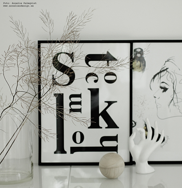 tavla, tavlor, stockholm, stockholmstavla, poster, posters, print, prints, konsttryck, sminktavla, sminktavlor, smink, makeuptavla, makeup, svart och vitt, svartvit inredning, svartvita, inredning, inredningsdetaljer, webbutik, webbutiker, nettbutikk, plakat, plakater, annelies design, kvist, kvistar, natur, naturen, skänk, ikea, bestå,