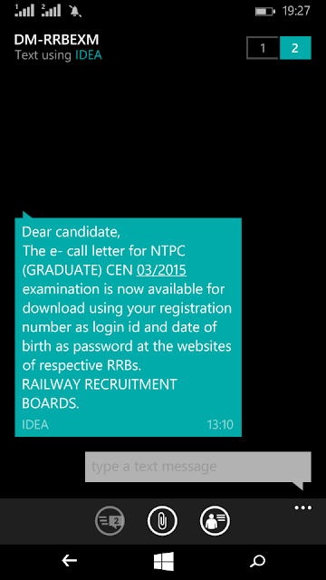 rrb-ntpc-admit-card-message