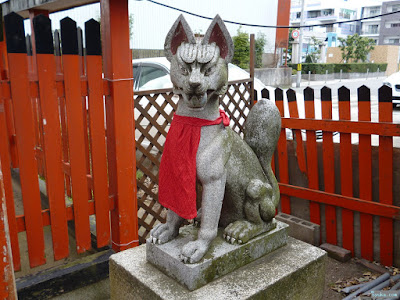 鼻川神社鼻川稲荷大明神白狐