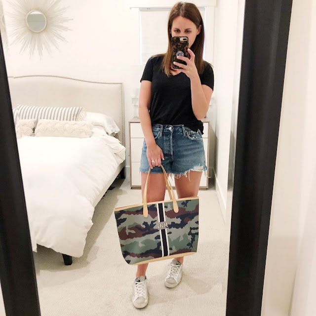bb1ebc35a6d280 above  So many gals seems to be chatting up these AGolde denim shorts for  summer as the