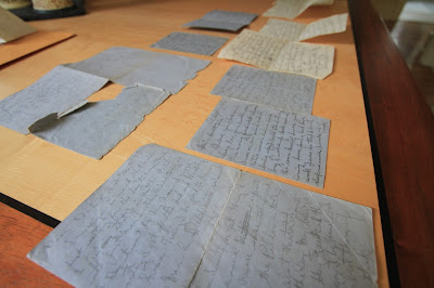 A stash of letters written by grandfather in 1946.