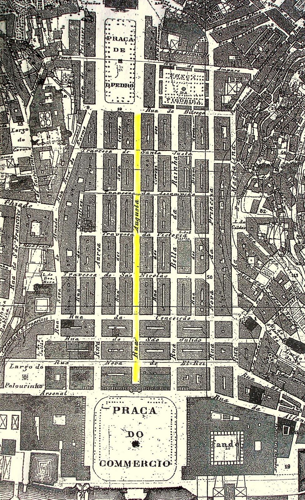 rua da conceição lisboa mapa RUAS DE LISBOA ALGUMA HISTÓRIA: RUA AUGUSTA [ I ] rua da conceição lisboa mapa