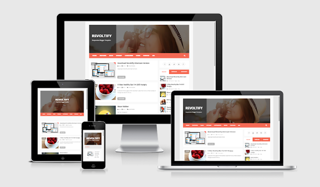 Revoltify Responsive Blogger Template