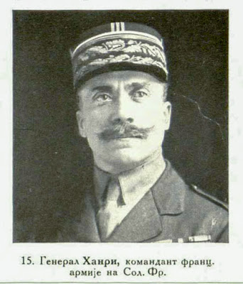 General Henrys, Commandant of the French Army at Salonica