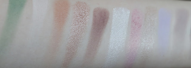 too faced white chocolate bar palette swatches review pale skin