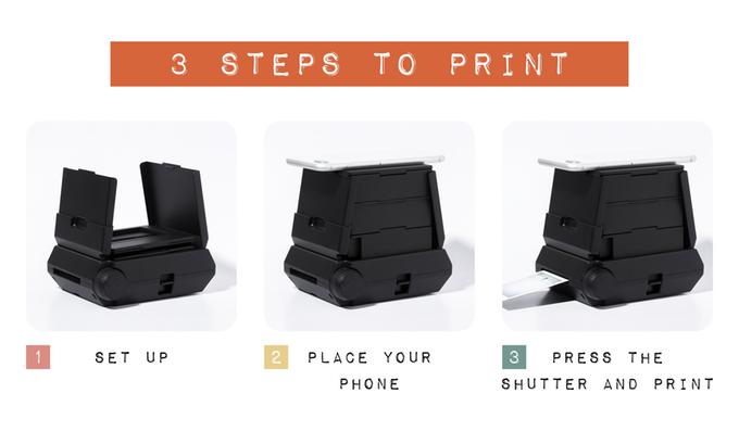 Шаги печати на фотопринтере Holga Instax
