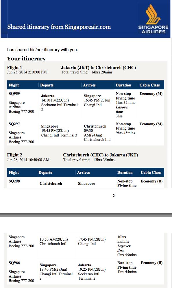 Terbang Ke New Zealand Dengan Singapore Airlines
