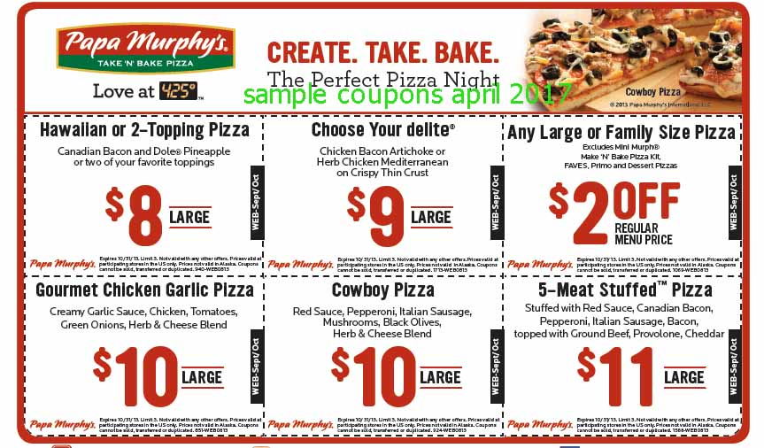 graphic about Papa Murphy's Printable Coupon identified as Papa murphy discount coupons 2018 - On the web Price reduction