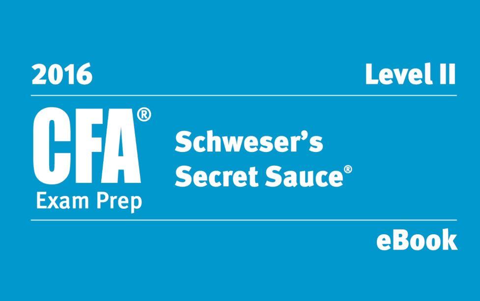 Schweser secret Sauce level 1