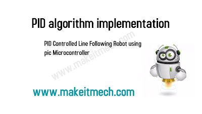 PID line following robot using pic complete code