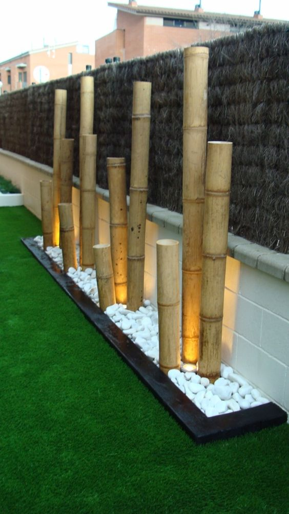 Home decor 20 bamboo tree decorations for your home design - Terrasse surplombant mon jardin metz ...