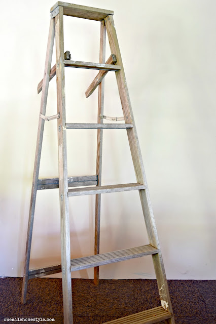 Step ladder into a blanket ladder before