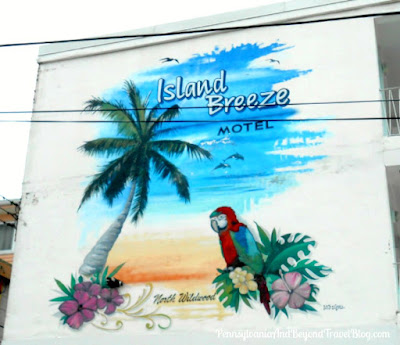 Island Breeze Motel Street Art Wall Mural in North Wildwood, New Jersey