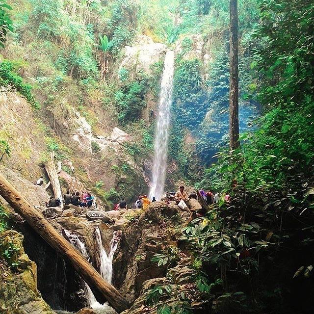 Curug Lestari Payung Batu di Lampung Tengah