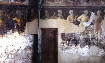 εικ. Ι. Μ. Φιλανθρωπηνών Νότιος & Δυτικός τοίχος, Ιωάννινα  1. κατεστραμμένο 2. Πλάτων 3. Απολλώνιος ο Τυανέας  4. Σόλων ο Αθηναίος 5. Αριστοτέλης 6. Πλούταρχος  7. Θουκυδίδης 8. Χίλων ο Λακεδαιμόνιος
