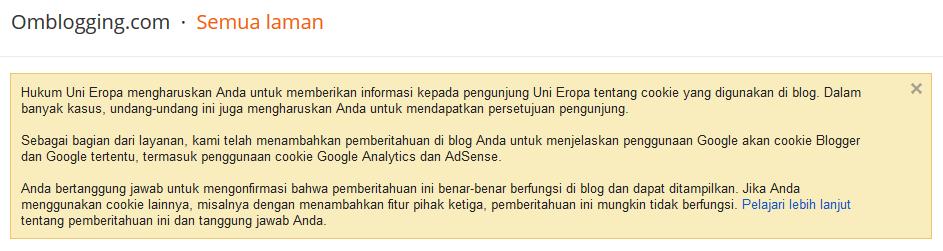 Mengenal pemberitahuan hukum uni eropa pada blogger