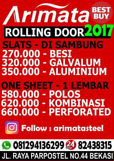 gambar harga rolling door