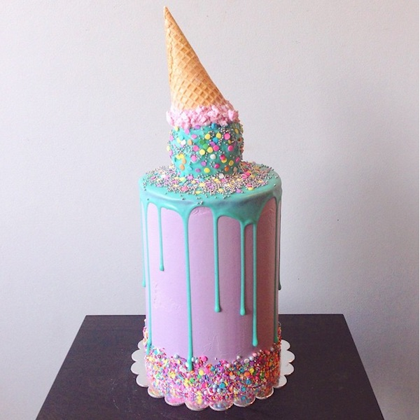 ice-cream cake  - 20+ Colorful Yummy Cake You Want To Eat
