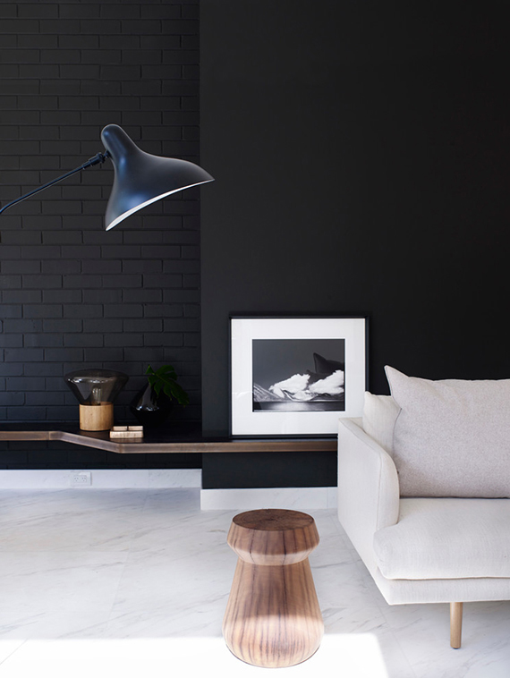 Black living room wall   Amber Road Design