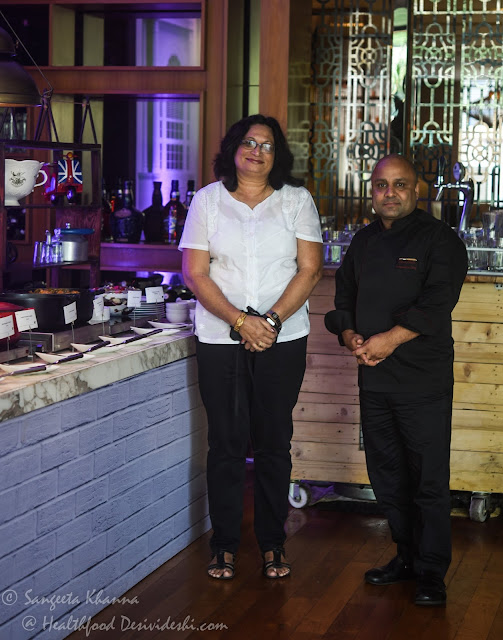 Bridget White Kumar and Chef Vivek Bhatt
