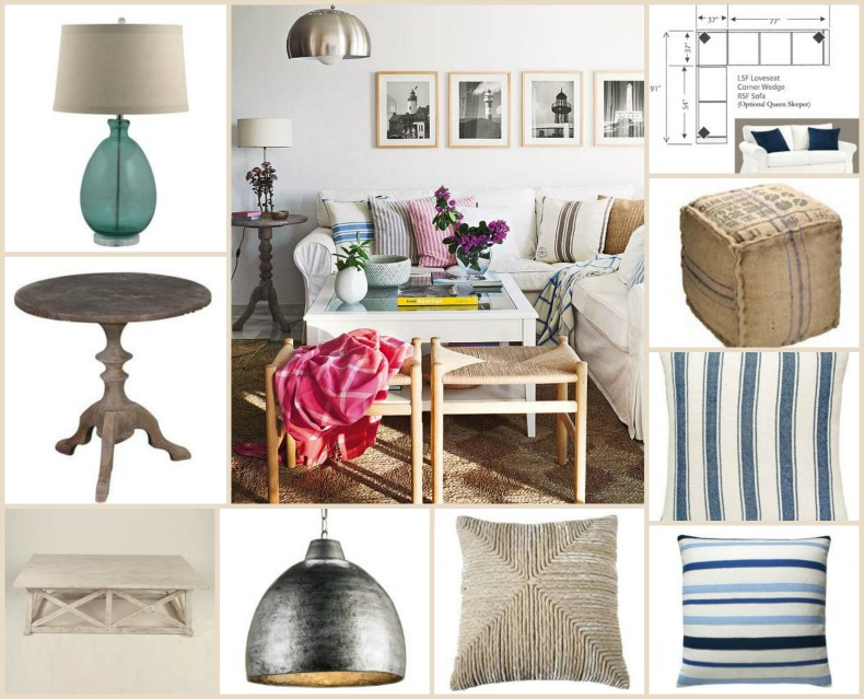 Coastal shopping for a coastal family room