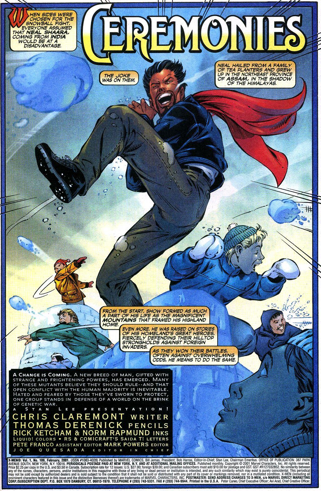 X-Men (1991) 109 Page 1