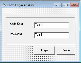 Membuat Form Login Aplikasi Kasir