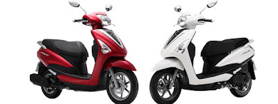 2016 Yamaha Acruzo 125cc red & white side look image