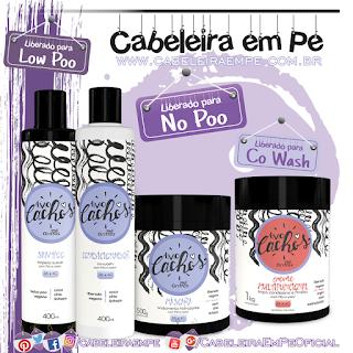Shampoo (Low Poo), Condicionador, Máscara e Multifuncional (liberados para No Poo) - Amo Cachos - Griffus