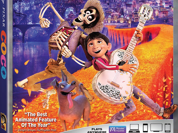 Disney•Pixar's COCO // Crosses Over Digitally in HD, 4K Ultra HD and Movies Anywhere on Feb. 13 and on 4K Ultra HD & Blu-ray on Feb. 27