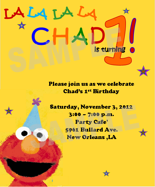 Solutions...Event Design by Kelly: Elmo 1st Birthday Invitations