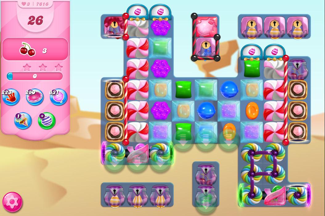 Candy Crush Saga level 7616