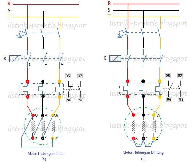 3 jenis instalasi starter motor listrik paling populer listrik praktis diagram daya dol motor bintang dan delta ccuart Gallery