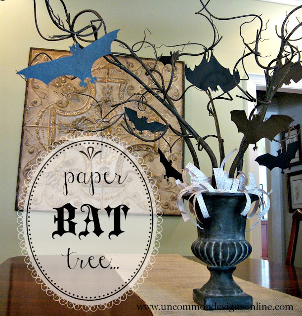 Paper bat tree by Uncommon Designs Online via Funky Junk Interiors