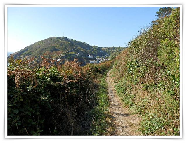 Walking on South West Coast Path, Cornwall