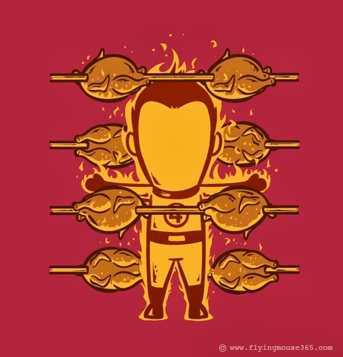 06-The-Human-Torch-Fantastic-Four-The-Rotisserie-Illustrator-Chow-Hon-Lam-Superheroes-Part-Time Jobs-www-designstack-co