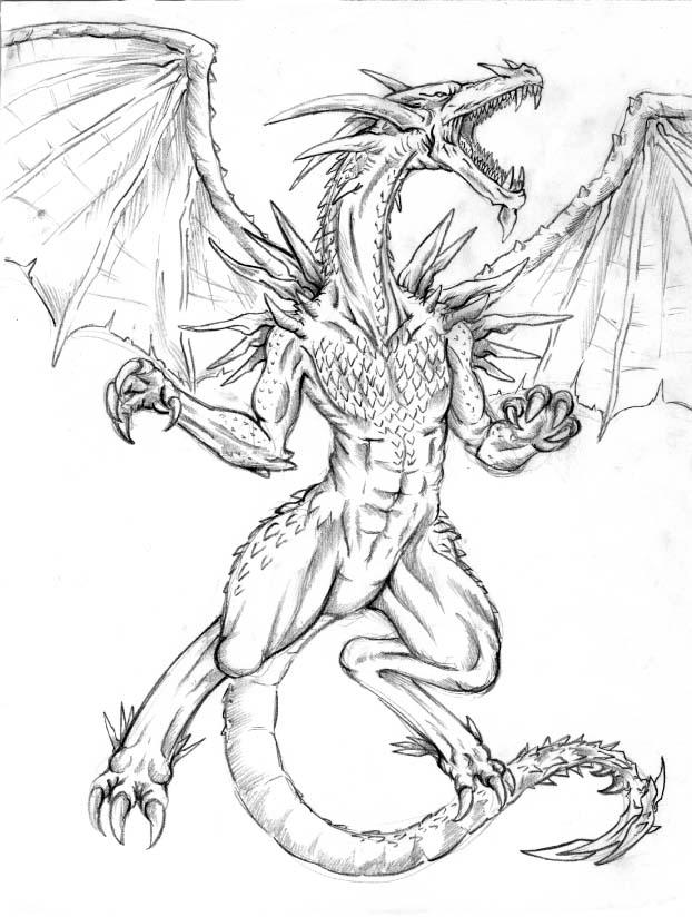 Dragon Drawing   3D Drawing