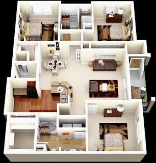 plan home modern minimalist