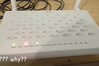 Cara Mengatasi Lampu LOS Merah Berkedap Kedip Pada Modem IndiHome