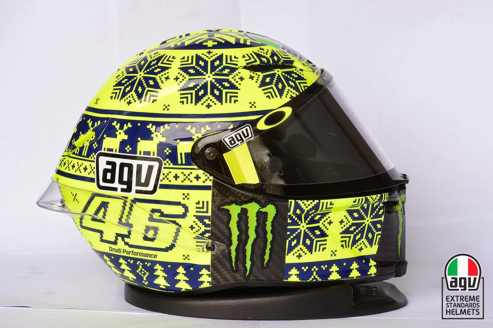 racing helmets garage agv pistagp v rossi winter test. Black Bedroom Furniture Sets. Home Design Ideas