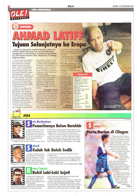 LIGA INDONESIA: BINTANG AHMAD LATIFF