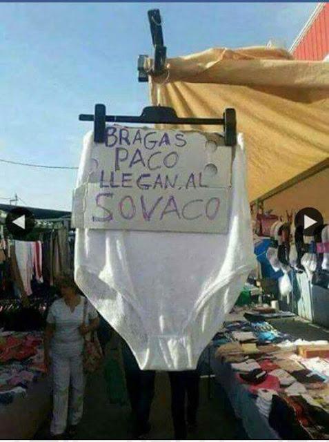 Bragas Paco , llegan al sobaco, sovaco