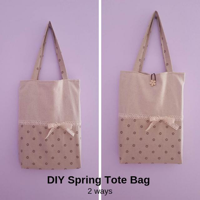 DIY Spring tote bag - 2 ways