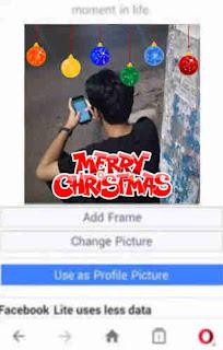 Cara Mengedit Bingkai Foto Profil Natal Merry Christmas