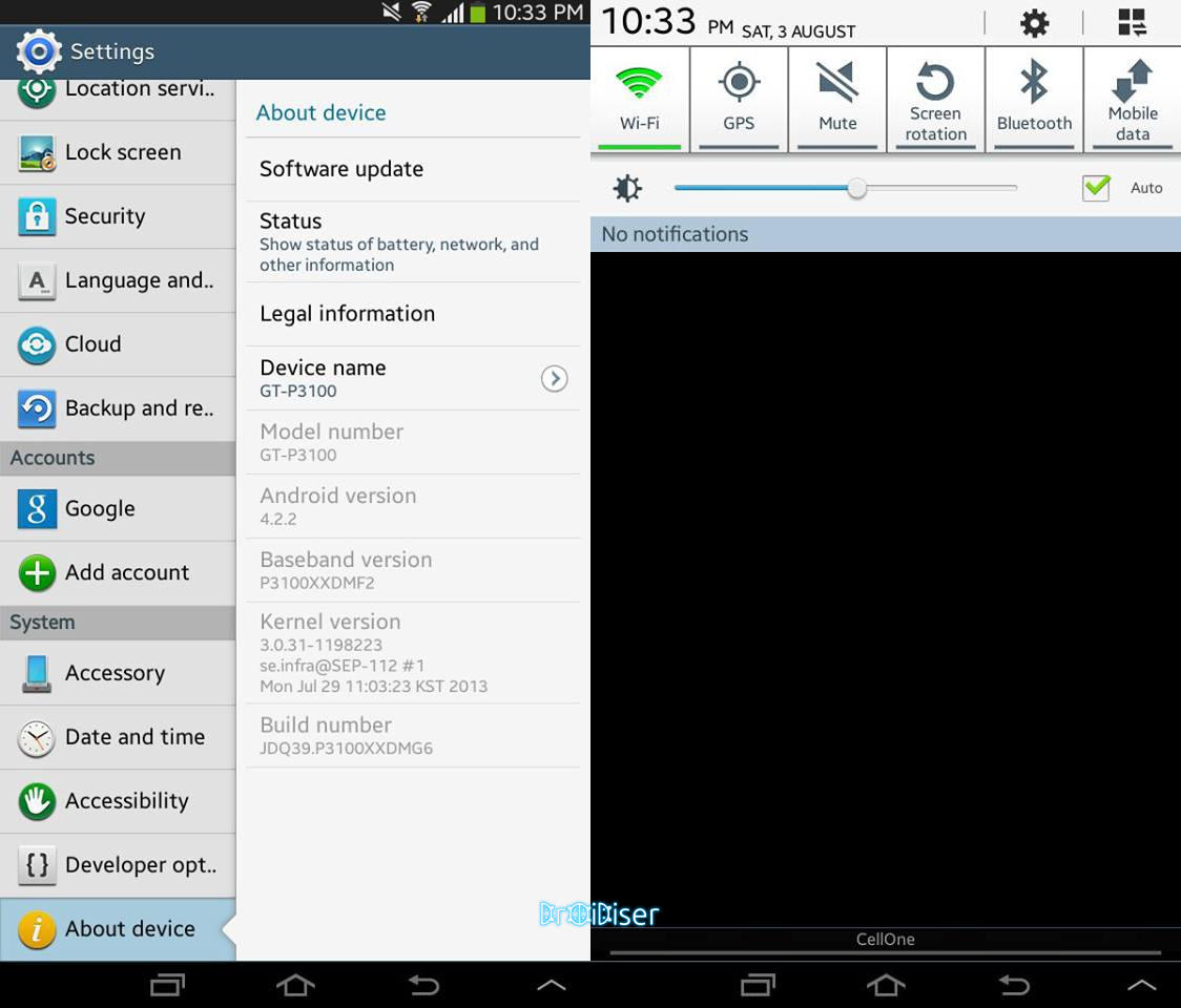 How to update Samsung Galaxy Tab 2 P3100 to official Android 4 2 2