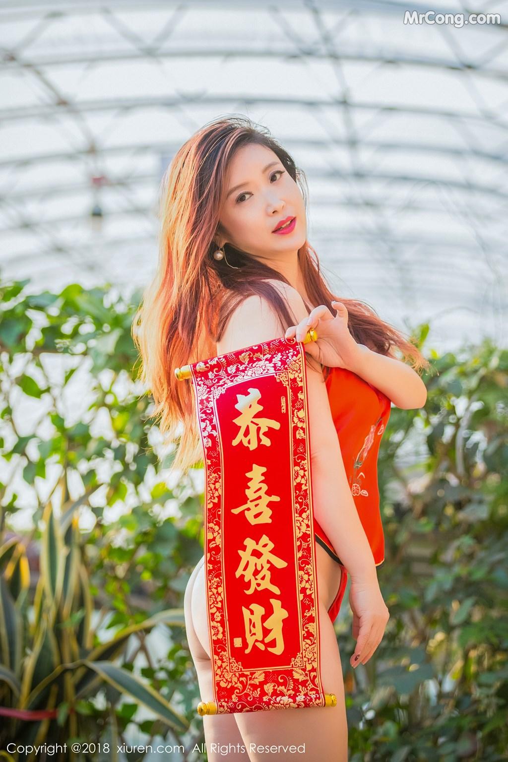 Image XIUREN-No.887-Xi-Xi-Bai-Tu-MrCong.com-018 in post XIUREN No.887: Người mẫu Xi Xi Bai Tu (西希白兔) (44 ảnh)
