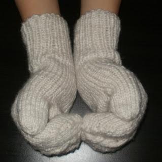 rękawiczki na 4 drutach